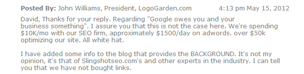 LogoGarden Marketing Expenses